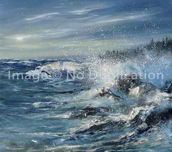 """2013:  """"North Shore Seaspray"""", Acrylics"""