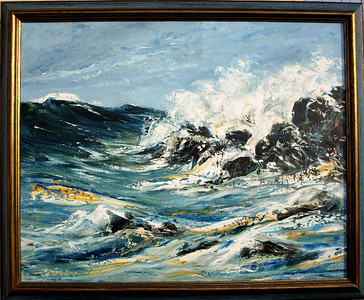 2001:  Sea Study in Oils with a Painting Knife