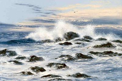 1989, I believe; Acrylics.  Another shoreline on Maui, Hawaii.