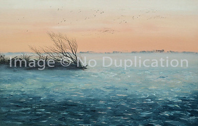 """1987:  """"Park Point, Duluth...40-Below Morning"""", Acrylics"""