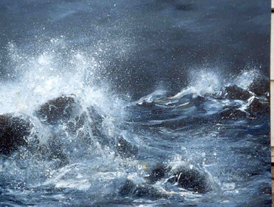I LOVE PAINTING SEASCAPES AND WAVE ACTION!  CAN I PAINT ONE FOR  YOU? Seascapes without shoreline details or boats are among the most economically priced Original Commissions I can do!  Currently I have piles of already stretched canvases in varying sizes.  Interested?  Contact me for an appointment.  I have MANY photos in this website that could provide material for a seascape painting.  Or, I can work from your photo/s too.   EMAIL:  doris.starofthenorth@gmail.com . . . make a Studio appointment.