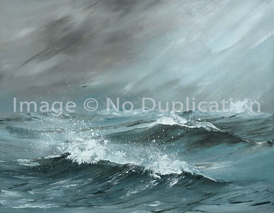 "1981:  ""Sea Ghost"", Acrylics"