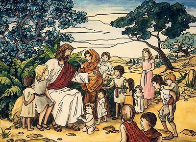 90ptg JesusAnd ChildrenB