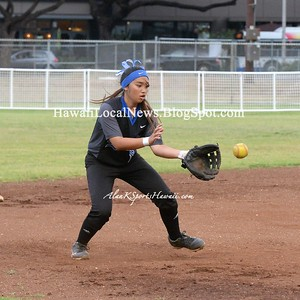 04-23-15 McKinley Tigers vs Moanalua Na Menehune Varsity Girls Softball (3-15).