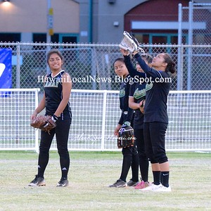 05-12-15 2014-2015 HHSAA D-II Girls Softball - Lanai Pinelasses vs Waialua Bulldogs (14-8).