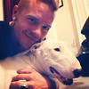SAULI AND DOG BUDDY