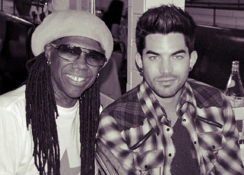 Me and Adam Lambert at Cafe Luxembourg figuring out our set for the NR Dance Party ENHANCED