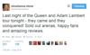 shoshanna tweet about queen tour