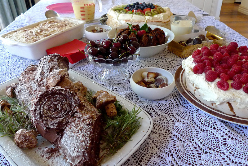 The upside – our sumptuous spread!