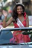 Miss Meridian Leah Gibson waves to the crowd on Monday, June 20, 2016, while riding in the Miss Mississippi Pageant Parade down Washington Street in downtown Vicksburg, Miss.