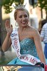 Miss Madison Metro Katie Sims waves to the crowd on Monday, June 20, 2016, while riding in the Miss Mississippi Pageant Parade down Washington Street in downtown Vicksburg, Miss.