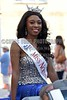 Miss Northland Dana Wesley poses for a picture on Monday, June 20, 2016, while riding in the Miss Mississippi Pageant Parade down Washington Street in downtown Vicksburg, Miss.