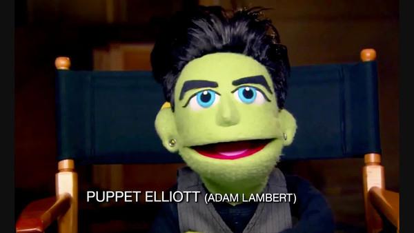 """Adam Lambert's Puppet Elliott:  """"I Belong To You"""" GLEE"""