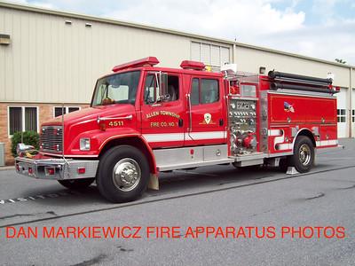 ALLEN TOWNSHIP FIRE CO. FORMER ENGINE 4511 1995 FREIGHTLINER/CENTRAL STATES PUMPER