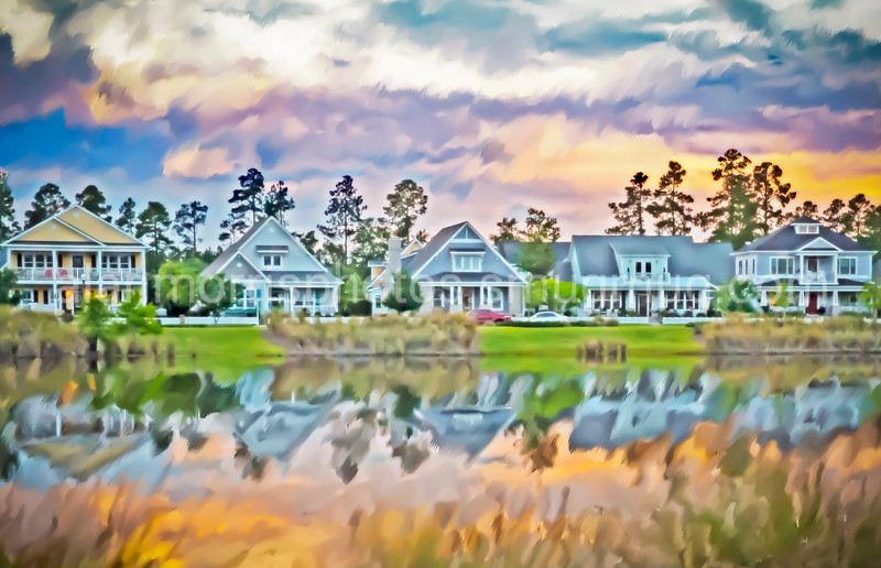 Water Color of homes on Shelmore Way