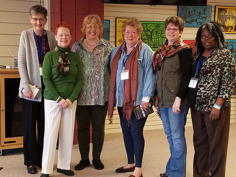 Executive board members who attended the Conference of Presidents include, l-r, Becky Shurson, secretary, Patti Austin, president, Sandra Grier, Jackie Wilson, Lois Bylund, Deborah Banks-Williams.