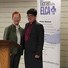 Patti Austin, executive board president, with ELCA presiding bishop, Elizabeth Eaton