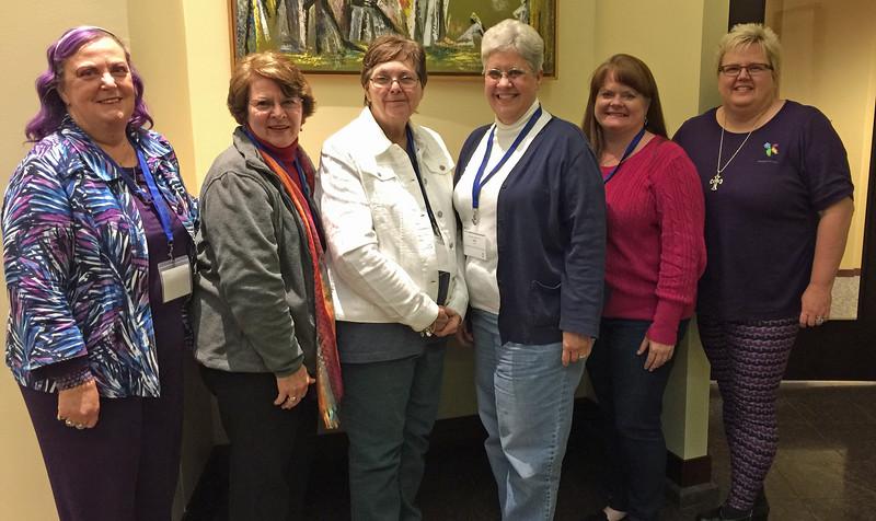 Rocking Region 4: l-r, Nancy Johnson, Dinah Halopka-Ryson, Penny Budzien, Pam Nye, Deana Fuchs and Lisa Youngquist.