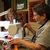 Roxanne Montague sews labryinths