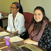 Elizabeth Hunter, editor of Gather, left, and Sarah Carson, associate editor, lead a workshop