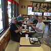 Lunch at LA Burger King<br /> Left to Right<br /> Ray Cruz, Dennis Woytek, Dennis Trout, Teddy Montouri, Dennis Waler