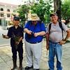 City worker posing with Dennis Woytek and Dave Schlesinger