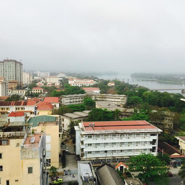 Hue skyline and the Perfume River