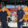 "Fitchburg firefighter Hecrtor Rodriquez and Lt. Mike Gelinas talk about the upcoming Fitchburg Fire Departments Muscular Dystrophy Associations ""Fill the Boot"" on Aug. 28th and 29th from 9a.m. to 6 p.m. t the corner of John Fitch Highway and Summer Street.  SENTINEL & ENTERPRISE/JOHN LOVE"