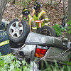 """A Technical Rescue Drill was conducted with local fire departments on Thursday afternoon. A car accident was simulated, rolled down an embankment where """"victims"""" were to be rescued. Fitchburg, Holden, Leominster, Lunenburg, and Sterling fire departments participated. SENTINEL & ENTERPRISE / Ashley Green"""