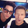"""Ryan Seacrest @RyanSeacrest 10m<br /> The reaction when @adamlambert and I realize christmas is only 6 weeks away <a href=""""http://instagram.com/p/gbC1RqlWX5/"""">http://instagram.com/p/gbC1RqlWX5/</a>"""