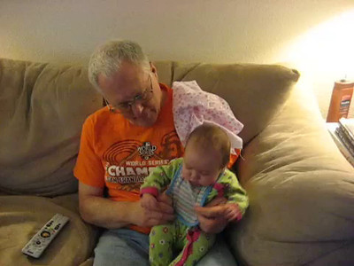 Grandpa and Kaylee and Frank Sinatra