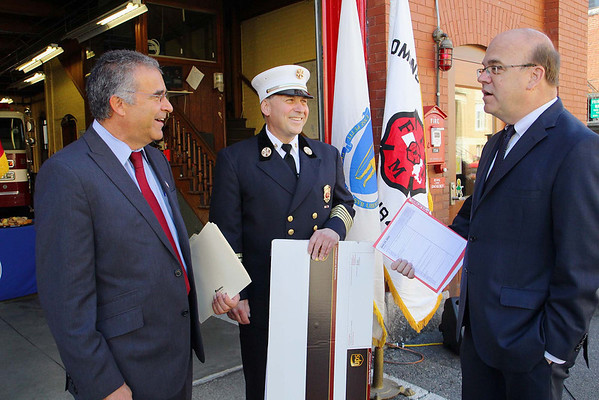Leominster Fire Department received a check from FEMA for new truck
