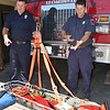 The Leominster Fire Department technical rescue team has recently been doing training as part of a regional program. Lieutenants Jason LeBlanc and Ryan Young shows off the equipment on Friday afternoon. SENTINEL & ENTERPRISE / Ashley Green