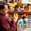 Lowell City Council listens to public comment ahead of the vote on the location for the new Lowell High School. City councilor Corey Belanger. (SUN/Julia Malakie)