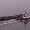 Tug Tummel and barge