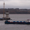 Centre Tower - Heavy Cargo Ship Abis Bilbao heading for Rosyth.
