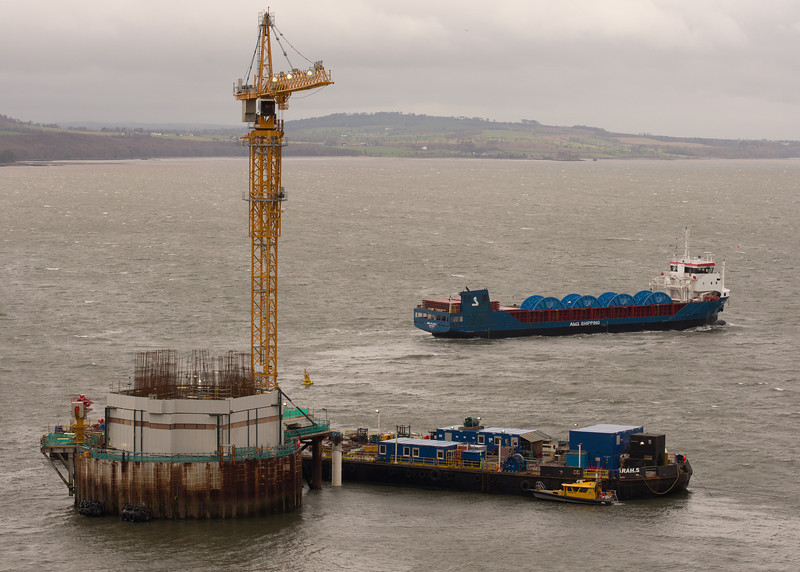 North Tower - Heavy Cargo Ship Abis Bilbao heading for Rosyth.