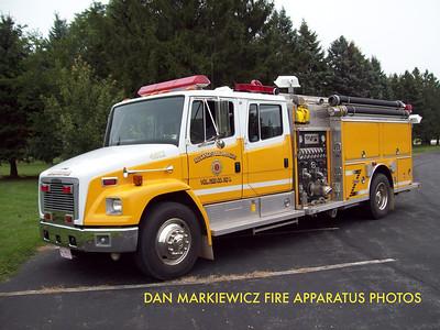 KLECKNERSVILLE RANGERS FIRE CO. ENGINE 4812 1993 FREIGHTLINER/CENTRAL STATES PUMPER