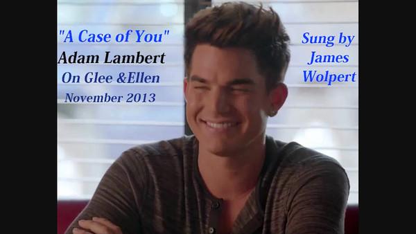 My Video: Adam On Glee & Ellen GIFS & Screencaps + A Case of You