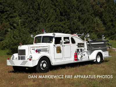 LOOKOUT FIRE CO. ANTIQUE 1949 HAHN PUMPER