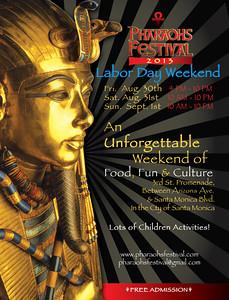 PHARAOH'S FESTIVAL 2013