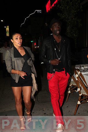 Supermodel Sam Sarpong sited at Berri's Beverly Hills