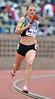 PHILADELPHIA - APRIL 28: Marina Kornoushenko from Russia runs in the Olympic Development sprint medley relay at the 2012 Penn Relays April 28, 2012 in Philadelphia.