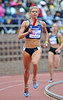 MAGGIE VESSEY runs the anchor for USA Blue in the ladies sprint medley championshiop at the 2012 Penn Relays at Franklin Field in Philadelphia.