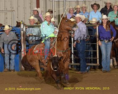 WINDY RYON  MEMORIAL ROPING Saginaw, Texas May 22-24, 2015