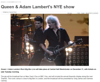 "Daily News Service<br /> <br /> <a href=""http://dailynewsservice.co.uk/entertainment/events/item/2611-queen-adam-lambert-s-nye-show"">http://dailynewsservice.co.uk/entertainment/events/item/2611-queen-adam-lambert-s-nye-show</a>"
