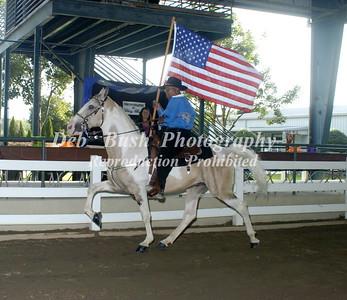 SATURDAY  OPENING CEREMONIES-FLAG HORSE