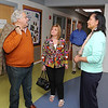 John and his sister Anna Clemente giving a donation to the Boys & Girls Club of Fitchburg and Leominster on Friday afternoon. During their visit to the club to annonce the donation, the children demonstrated their wind tunnel they used in a recent science festival. Executive Director of the Club Donata Martin gave John and Anna a tour of the facility. SENTINEL & ENTERPRISE/JOHN LOVE