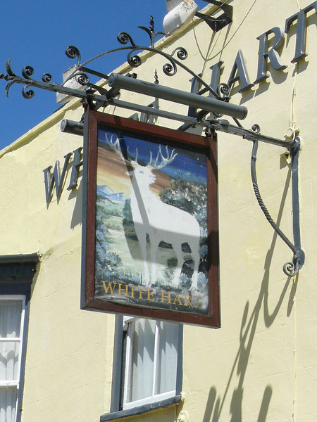 Pub Sign - White Hart, Sheepmarket, St Ives 110626