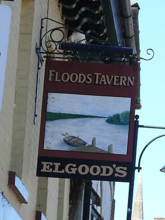 Pub Sign - Floods Tavern, The Broadway, St Ives 110626